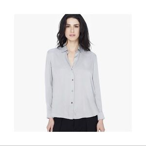 James Perse Viscose Twill Split Back Shirt